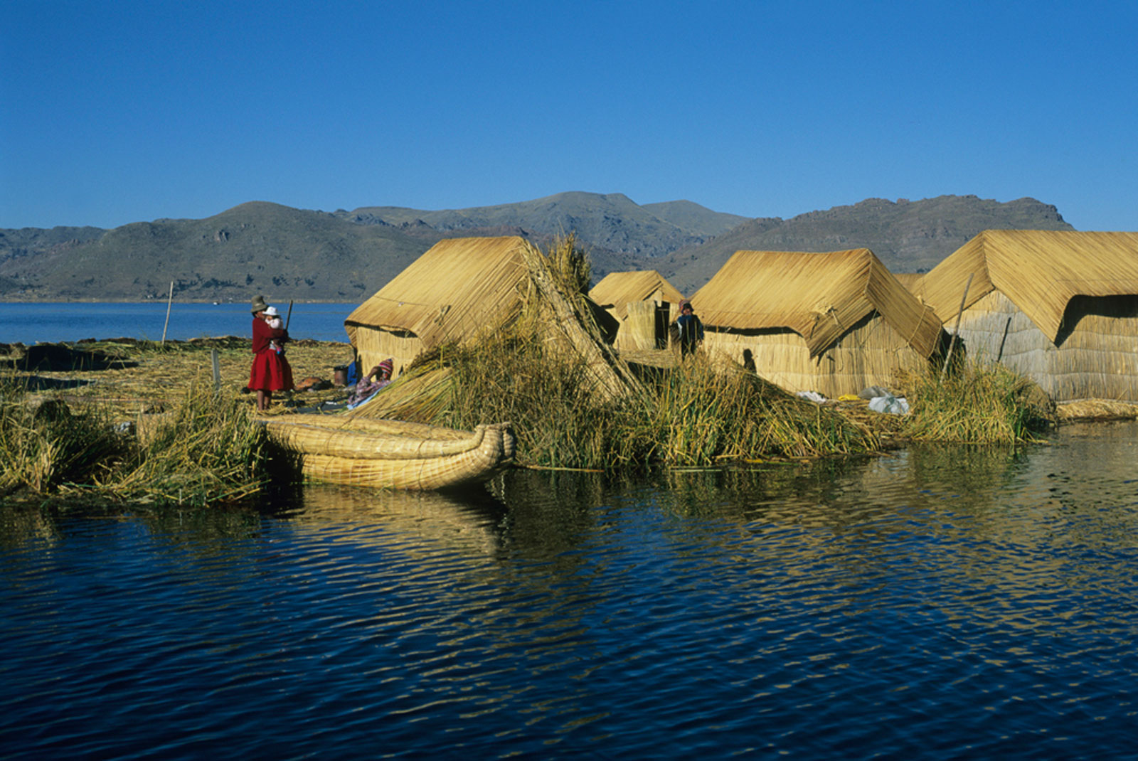 Freshwater Life village in South America on the water